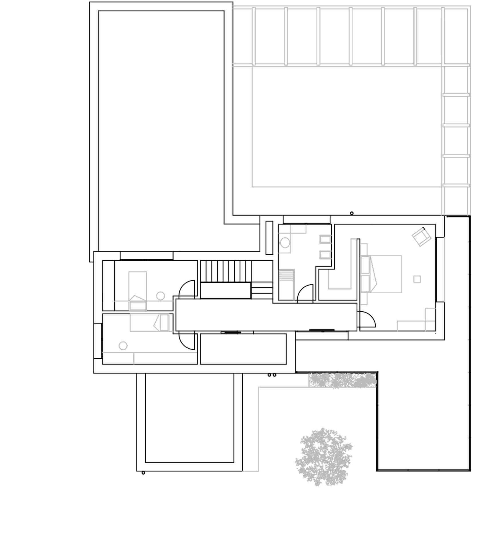 Tra portico e natura - planimetria